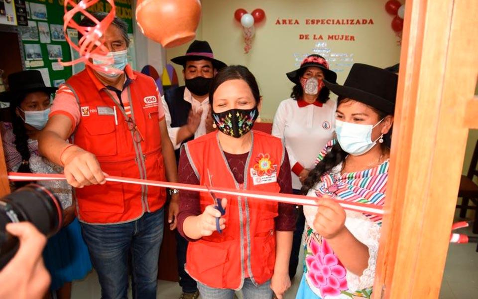 Inauguración de una Oficina de atención del Área Mujer en  Socos